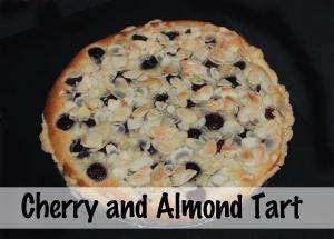 Cherry & almond tart