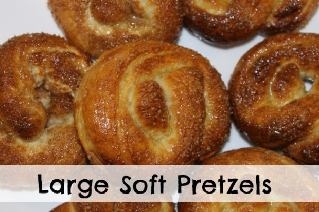 Large soft pretzels